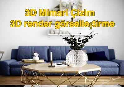 3D Mimari Çizim ve 3D render görselleştirme