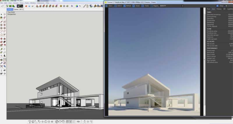 sketchup corona render