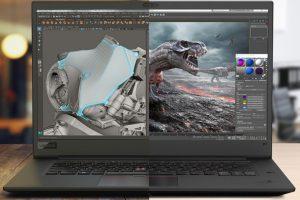 laptoplarda 3d render