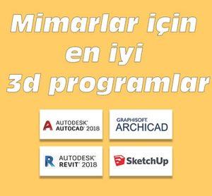 Mimarlar için 3D Programlar