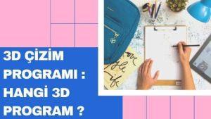 3D Cizim Programı